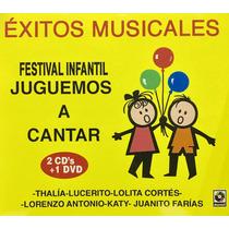 Cd Juguemos A Cantar Exitos Musicales 2cds Y 1dvd Nuevo