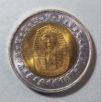 Egipto 1 Libra 2005 Bimetalica Sc Km 940 Tutankamon