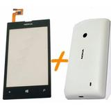 Tela Touch C/ Aro + Tampa Traseira Nokia Lumia 520