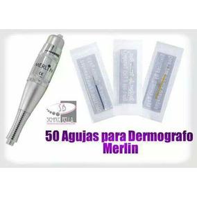 50 Agujas Delineado Permanente Para Dermografo Merlin