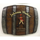 Barril Horizontal De Parede Decorativo - Johnnie Walker