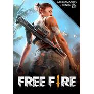 Free Fire 610 Diamantes + 10% Bônus - Recarga Via Id
