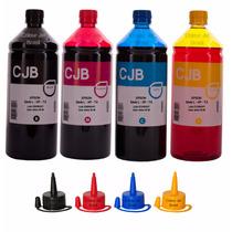 4 Litros Refil De Tinta P/ Impressoras L355 L365 L375 L565