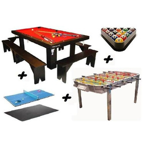 Mesa De Ping Pong Casera 2 Caballetes Mide 2 40 X 1 60 Mts Pool