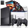 Play2 Ps2 Desbloqueado+ 02controles+ Memorycard+ Jogos