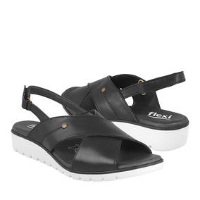 Zapatos De Piso Para Dama Flexi 44203 Piel Negro
