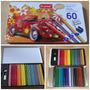 Lapices De Colores Hexagonales 60 Pzas + Sacapunta+ Borrador