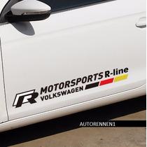 Vinil Calcomania Emblema Rline Negro Volkswagen Jetta Golf