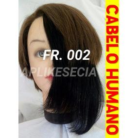 Franja Ou Franjão Preto Cabelo Humano Natural Tic Tac