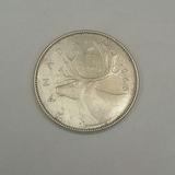 Moneda De Plata 25 Cents. Año 1966 (canada)