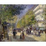 Avenida Paris Cavalo Carrete Pintura Renoir Tela 100cmx 80cm