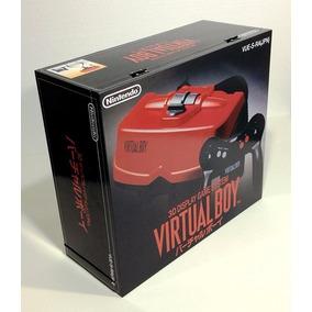 Caixa Vazia Virtual Boy Nintendo De Madeira Mdf Com Isopor