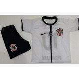 Camiseta Infantil Corinthians Esportivo Bermuda+ Camisa Kit