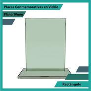 Placa De Vidrio Referencia Rectángulo Pulido Plano 10mm