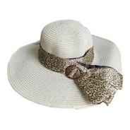 Chapéu De Praia Feminino Com Faixa Leopardo