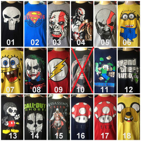 Camiseta Personagem Banda De Rock Games