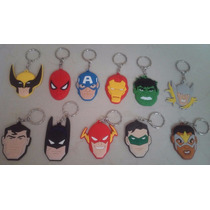 Set Llaveros Batman Súperman Flash Linterna Verde Marvel Dc