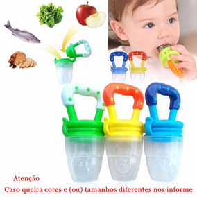 Kit 2 Chupeta Alimentadora Bico Para Bebê Mordedor Papinha