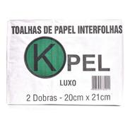 Papel Toalha Interfolha Branco Luxo 20 X 21  Pacote 5000