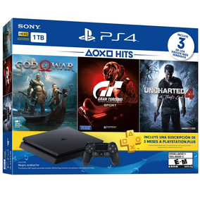 Ps4 Slim Sony 1tb 3 Jogos Bundle Playstation 4 Novo