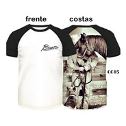 Camiseta Country Raglan Masculina Rodeio Cowboy Bruto Cavalo