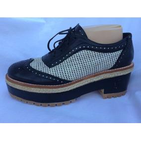 Zapato Acordonado Plataforma Paula Cahen D`anvers 40 Nuevo