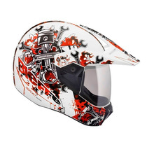 Capacete Bieffe 3 Sport Mechanic Branco Trilha Motocross