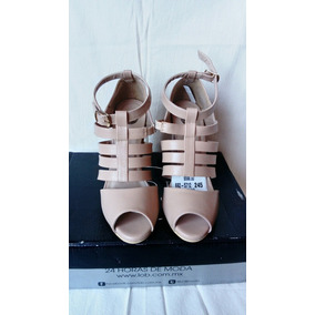 Sandalias Altas Nude Tacón 10 Cm Lob Footwear