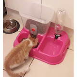 Dispensador De Comida Y Agua Mascotas