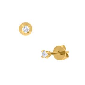 3c3ade223012 Broqueles Aretes En Oro 14k Brillantes 10 Puntos Ambos - Joyas y ...