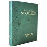 Bíblia De Estudo Scofield - Capa Luxo Verde + Brinde