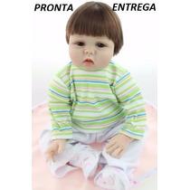 Boneca Bebê Reborn Menino De Silicone Realis. Pronta Entrega