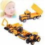 Set De 5 Vehiculo De Construccion 1:64 Metal/plastico Niño