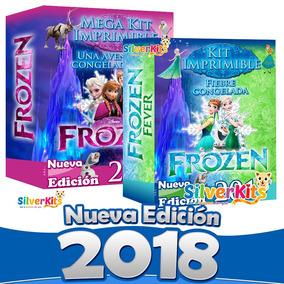 Frozen Y Frozen Fever Kit Imprimible Candybar Mesa Dulces