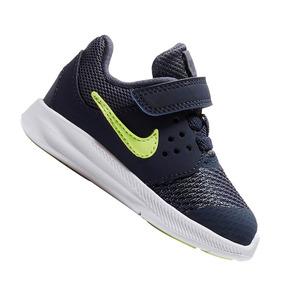 4de0aac01 Tênis Nike Infantil Downshifter 7 Marinho E Verde Original
