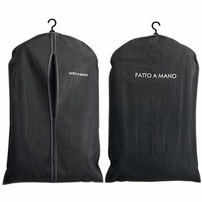 Porta Terno Com Zíper Tnt Preto Capa Camisas Roupas Vestidos