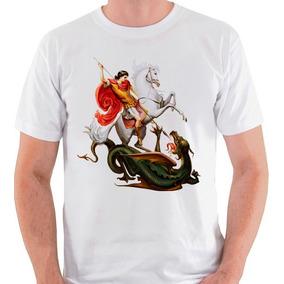 Camiseta São Jorge Santo Religião Umbanda Camisa Blusa