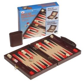 Backgammon Magnetico Maletin De Cuero Ecologico Chico