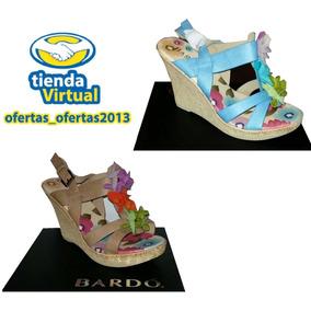 Sandalias De Plataforma Tacon Tipo Corcho Marca Bardo Nuevas