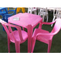 5-mesas Com 20 Cadeiras Bistrô De Plástico Coloridas Emp.