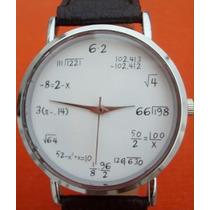 Reloj Matemático Ecuaciones Geek Hombre Y Mujer + Envío