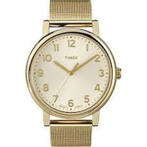Reloj Timex Dorado Ext. Tapetillo Metal T2n598zm *original*