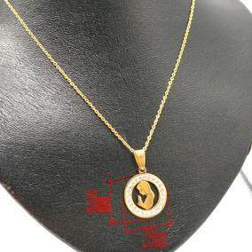 Colar Banhado A Ouro Virgem Maria De Aço Inox