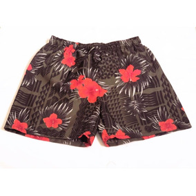 Kit 3 Shorts Estampa Floral Masculino Tactel Ref 370