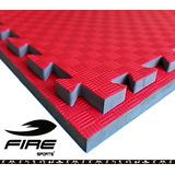 Tatami 10pza Piso Bicolor Gimnasio 2cm Fire Sports