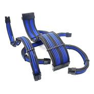 Kit 3 Cabos Extensores Sleeve Premium Tcl Azul E Preto