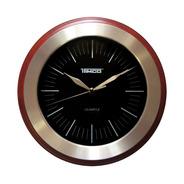 Reloj De Pared Redondo Madera Con Acero Inoxidable Ra-70-n