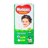 Pañales Huggies Active Sec G 9-12,5kg X44u