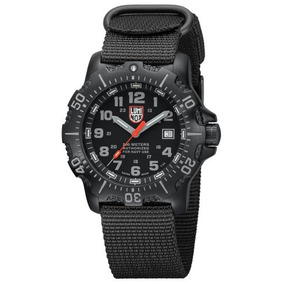 Luminox Mar 4200 Anu Negro Dial Negro Nylon Reloj Para Homb