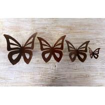Mariposa Colgar De Hierro Oxidado Calada Mini